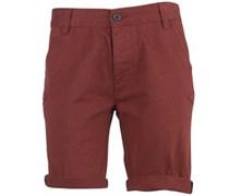 Herren Wine Chino Shorts Rot