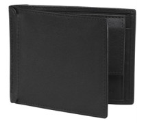 Mens Mens Premium Bifold Wallet With Coin Pocket Black