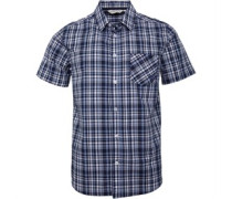 Hemd mit kurzem Arm Blautöne