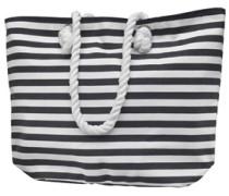Damen Striped Beach Tag White/Navy