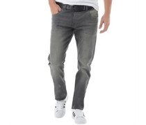 Crosshatch Herren Jenson Fit ed Jeans in Slim Passform Grau