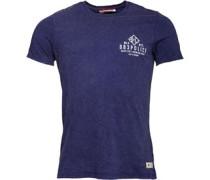 Herren Cracken T-Shirt Blau