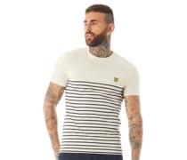 Breton Streifen T-Shirt Naturweiß