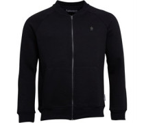 French Connection Mens FC Baseball Full Zip Sweater Black