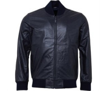 Levi's Mens Leather Bomber Jacket Nightwatch Blue