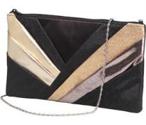 Little Mistress Womens Clutch Bag Black/Gold