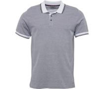 Mens Circle Jaquard Polo Shirt White