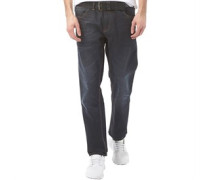 Herren Commodus Jeans in Slim Passform Dunkelblau