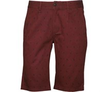 Herren Printed Chino Shorts Rot