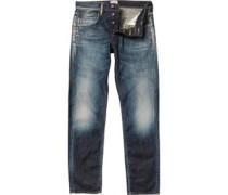 Edwin Herren ED-55 12oz Relaxed Tape Fit Glover Wash Jeans mit zulaufendem Bein Blau