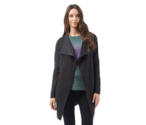 Damen Long Length Strickjacke Grau