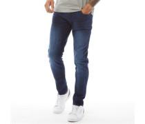 Caden Skinny Jeans Verblasstes Mittel
