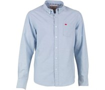 Herren Pompeii Hemd mit langem Arm Blau
