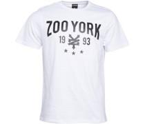 Zoo York Herren Crank Script Logo T-Shirt Weiß