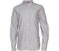 Bellfield Herren Dunes Oxford Hemd mit langem Arm Grau
