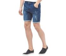 Herren Lincoln Denim Shorts Denimmeliert Blau