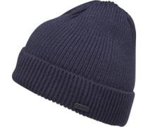 Herren Chunky Fisherman Beanie Mütze Blau