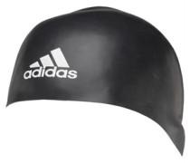 Herren Silicone 3D Swim Mütze Schwarz
