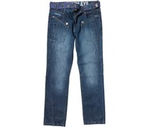 Henleys Herren With wash Jeans in regulär Passform Blau