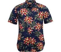 Herren Floral 2 Hemd mit kurzem Arm Blau/Rot/Grün/Gelb