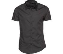 Herren Mombassa Hemd mit kurzem Arm Grau