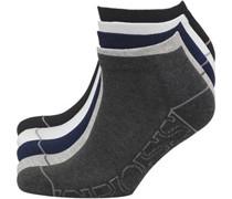 Herren Tibula 5 Packung Trainer Socken Schwarz