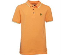 Lyle And Scott Boys Classic Tipped Polo Sunset Orange