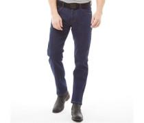 Stretch Denim Jeans mit geradem Bein Dunkel