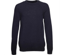 Lyle And Scott Vintage Mens Shetland Wool Jumper Navy