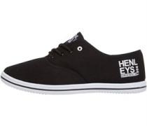 Henleys Herren Stash Plimsolls Freizeit Schuhe Schwarz