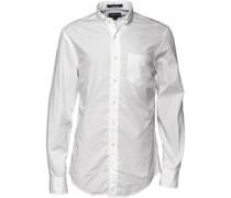 Gant Herren Lakeside Poplin Hemd mit langem Arm Weiß