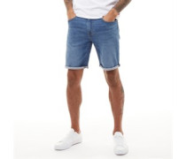 502™ Taper Hemmed Denim Shorts Verblasstes Mittel
