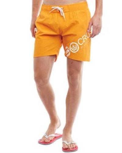 Herren Makins Badeshorts Orange Pepper