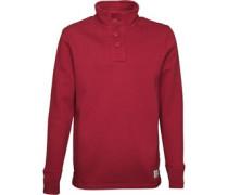 Herren Funnel Neck Maroon Sweatshirt Rot