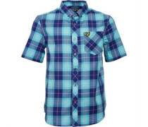 Lyle And Scott Boys Check Shirt Present Blue