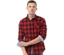 Herren Jack Hemd mit langem Arm Rot