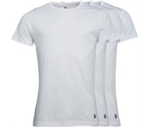 U.S. POLO ASSN. Mens Three Pack T-Shirt White
