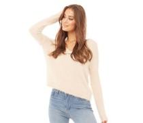 Foxtrot Fluffy Pullover mit V-Ausschnitt Hautfarbe