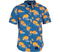 Superdry Herren Southbank Surf Venice Palms Hemd mit langem Arm Orange
