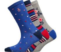 Drei Pack Socken Blau