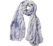 Ted Baker Womens Illusa Illustrated Floral Long Scarf Powder Blue