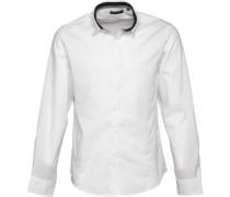 Herren Tudor Hemd mit langem Arm Weiß