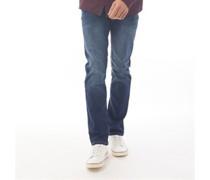 Farrowed Jeans mit geradem Bein Dunkel