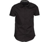 Herren Mombassa Hemd mit langem Arm Schwarz