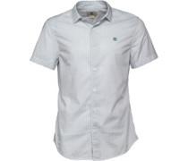 Herren Suncook River Poplin Geprüft Hemd mit kurzem Arm Weiß