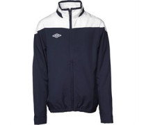Umbro Junior Woven Tracksuit Top Dark Navy/White