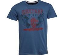 Firetrap Herren Muerto T-Shirt Blau
