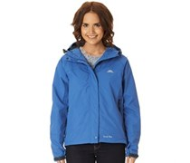 Trespass Damen Miyake Hooded Waterproof Shell Harbour Performance Jacket Mittelblau