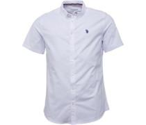 Herren Divot Oxford Hemd mit kurzem Arm Weiß
