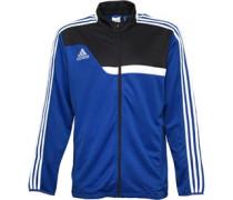 adidas Mens Trio 13 3 Stripe Climacool Full Zip Training Jacket Cobalt/Black
